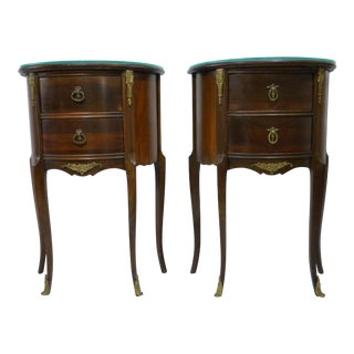 Early 20th Century Antique Demi-Lune Tables - A Pair For Sale