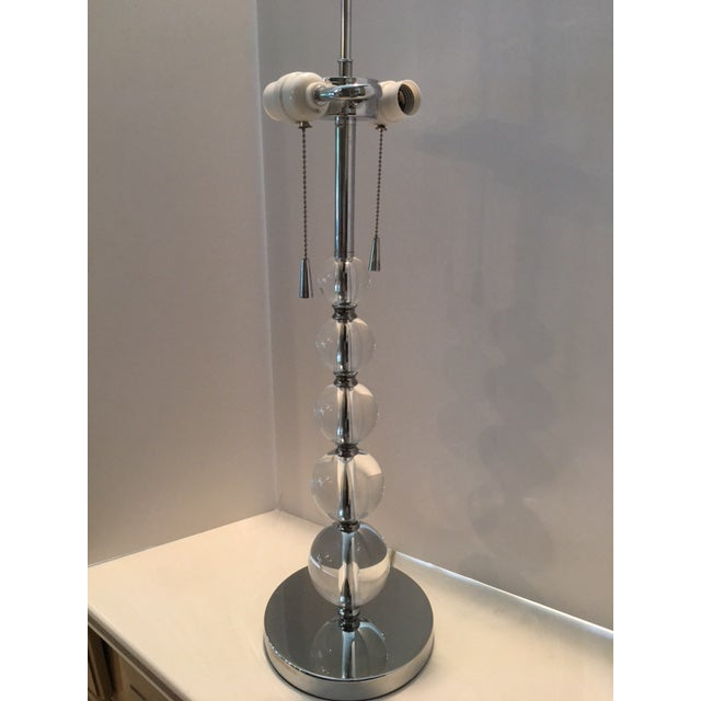 Contemporary Crystal Ball Table Lamp For Sale - Image 5 of 10