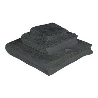 Matteo Riviera Coal 3 Piece Towel Set For Sale