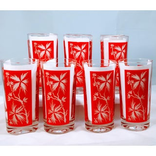 Vintage Red Barware Glasses - Set of 10 Preview