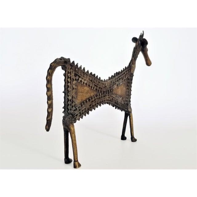 1960s Vintage Brutalist Solid Brass Horse Sculpture For Sale - Image 12 of 13