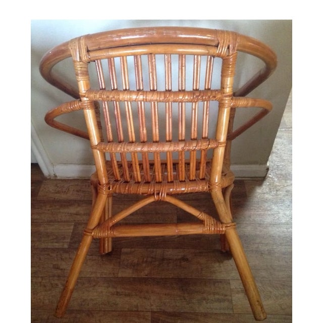 Vintage Mid-Century Rattan Side Chair - Image 3 of 6