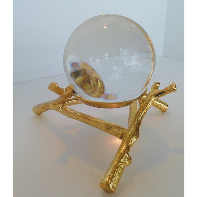 Crystal Orb With Gold Base - Image 3 of 9