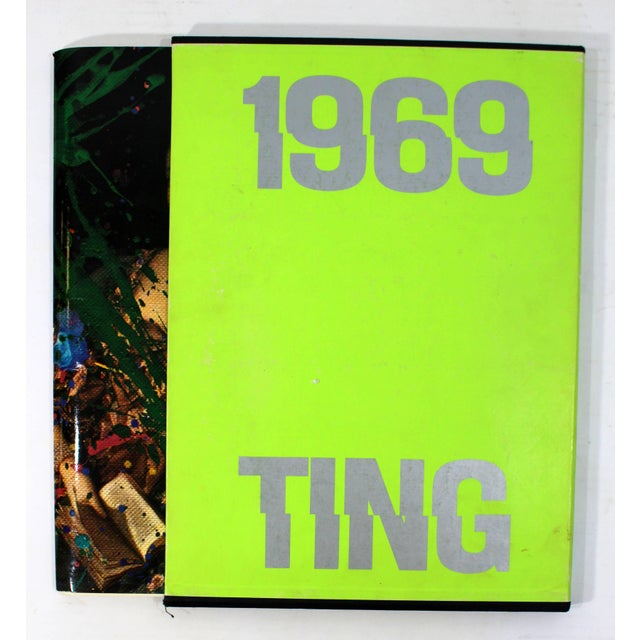 1969 Walasse Ting Mid-Century Modern Poetry & Art Book Signed For Sale - Image 10 of 10