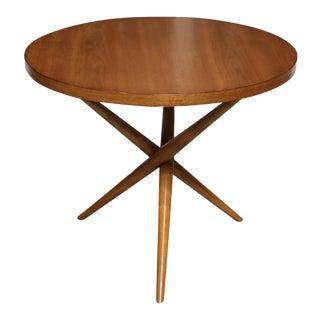 Mid-Century Modern t.h. Robsjohn-Gibbings for Widdicomb Walnut Side Table For Sale
