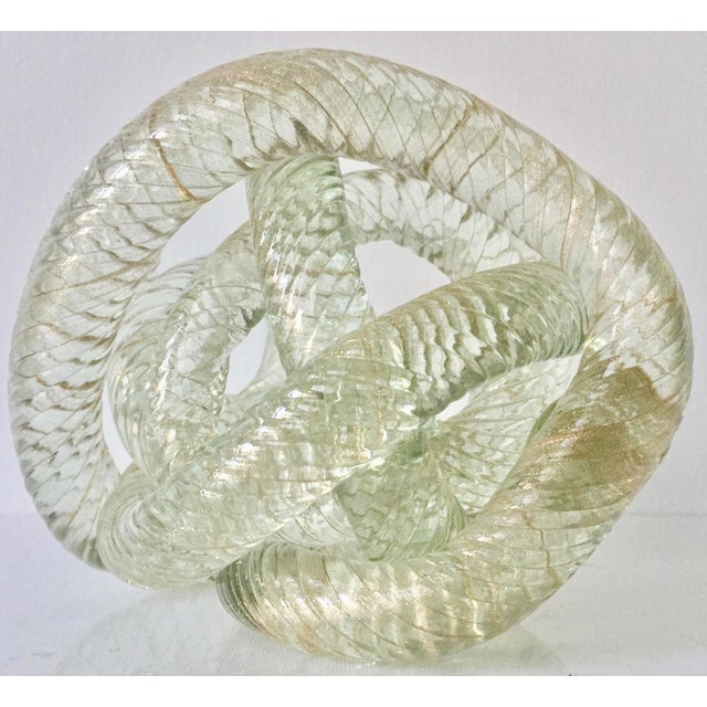 """Mid-Century Modern Large Murano Glass 8""""Twisted Knot Sculpture For Sale - Image 3 of 13"""