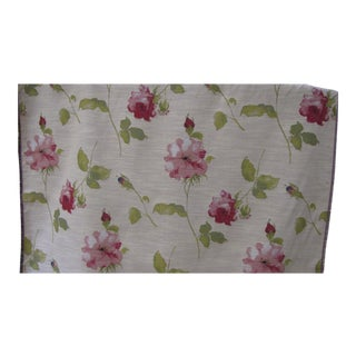 Belgian Tapestry Fabric in the Style of Hand Painted Flowers on Soft Tan Field For Sale