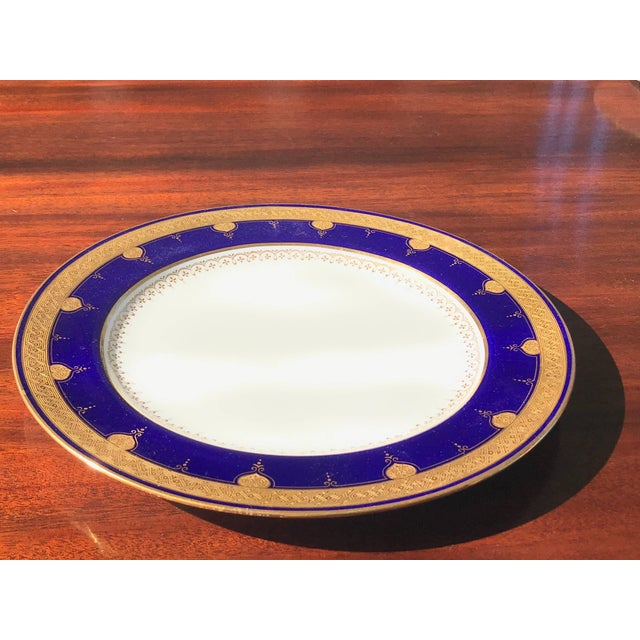 Early 20th Century Cobalt Blue Dinner Plates - Set of 12 For Sale - Image 5 of 8