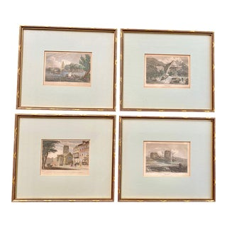 Early 19th Century British Engravings - Set of 4 For Sale