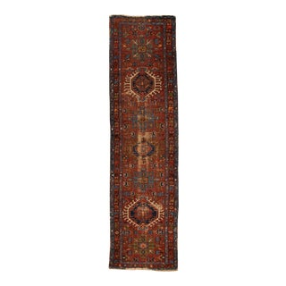 """Early 20th Century Persian Karajah Rug, 2'8"""" X 10' For Sale"""