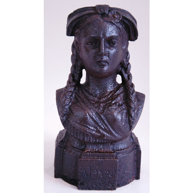 19th Century French Iron Lady Bust Fragment - Image 9 of 9