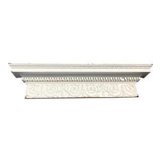White Carved Antique Mantel For Sale