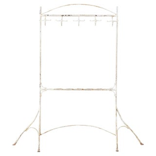 Early 20th Century French Art Nouveau Iron Coat Rack For Sale