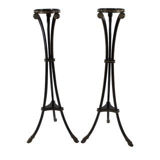 Neoclassic Plant Stands - a Pair For Sale