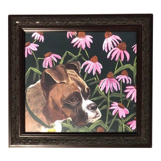 Boxer Dog Print by Judy Henn For Sale