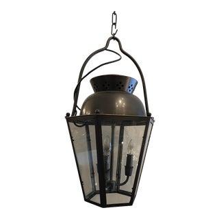1980s Vintage Bronze Finish Lantern For Sale