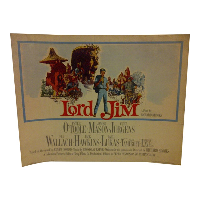 """Vintage """"Lord Jim"""" 1964 Movie Poster For Sale"""