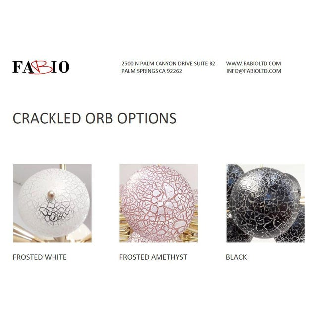 Crackled Orbs Chandelier by Fabio Ltd For Sale - Image 11 of 12