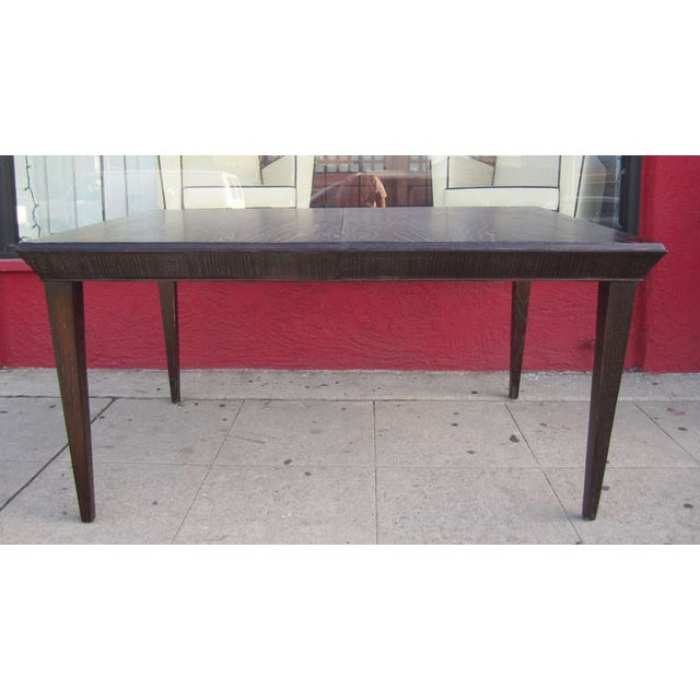 Paul Frankl Vintage Amber Cerused Dining Table - Image 3 of 7