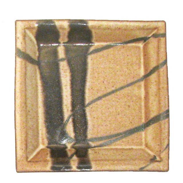 Mid-Century Modern Abstract Bamboo Art Pottery, Signed, Set of 3 For Sale - Image 3 of 7