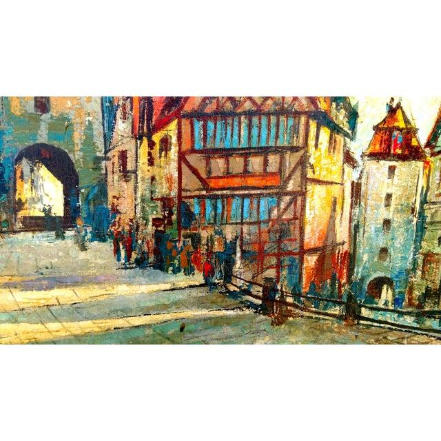 Rustic Street Scene Painting by Geo Koppany - Image 7 of 9