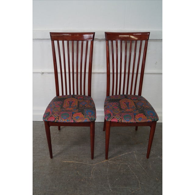 Mid Century Italian Spindle Back Dining Chairs - Set of 4 For Sale - Image 7 of 10