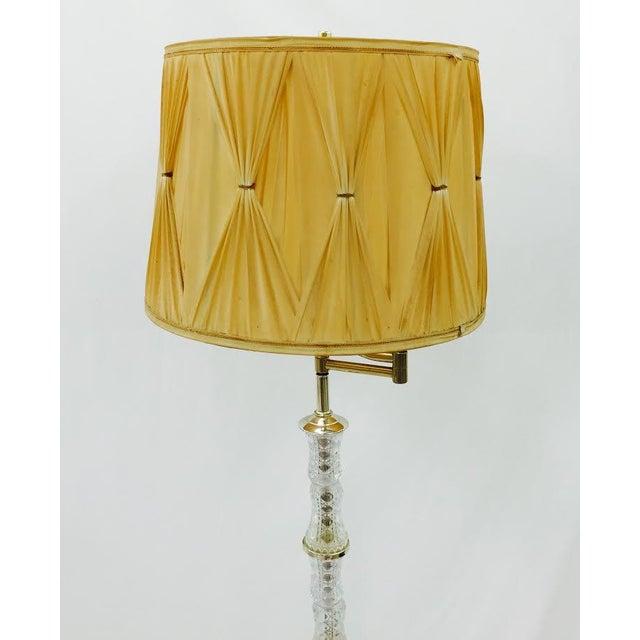 Vintage hollywood regency cut glass floor lamp chairish for Retro hollywood floor lamp