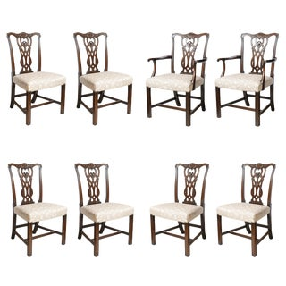 Set of Chippendale Style Dining Chairs For Sale