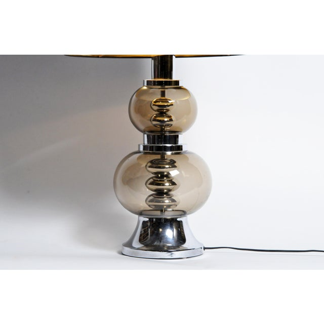 Glass and Chrome Table Lamps - A Pair For Sale In Chicago - Image 6 of 13