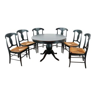 Crate & Barrel 6 Chair Dining Set - 7 Pieces For Sale