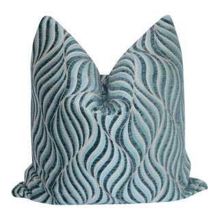 Custom Blue Swirl Pillow Cover For Sale