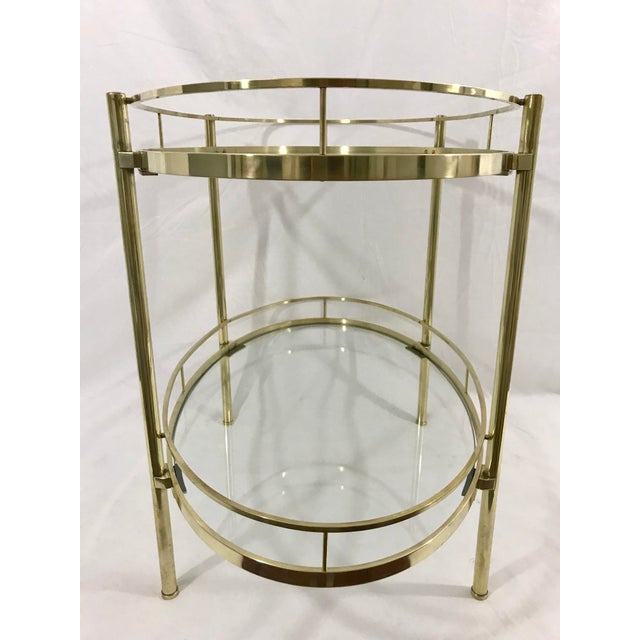 1970s Solid Brass MCM Side Table For Sale - Image 5 of 7