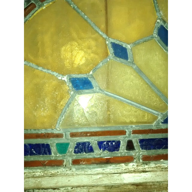 Stained Glass Victorian Window Transom - Image 5 of 6