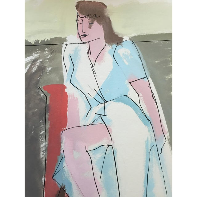 "From the estate of Jerry Opper & Ruth Friedmann Opper Slit c. 1940-1950's Gouache on Paper 15"" x 18"", Unframed Very Good..."