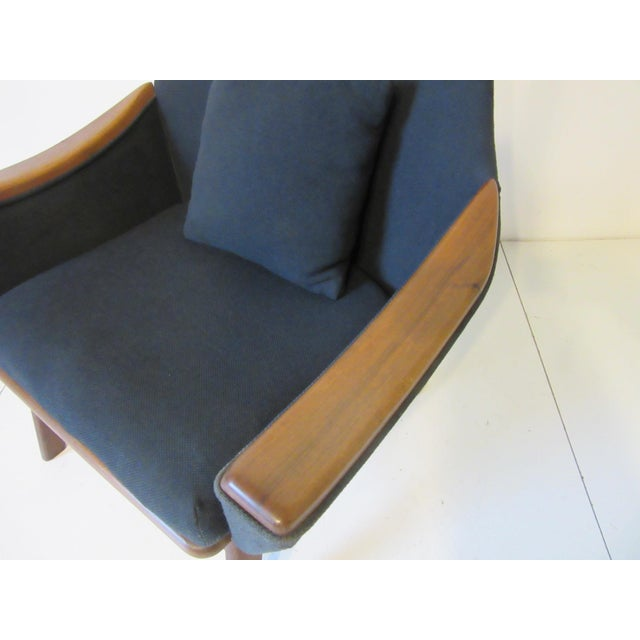 Fabric 1960s Adrian Pearsall Upholstered Lounge Chair For Sale - Image 7 of 10