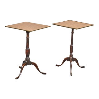 Pair of Early 19th Century Swedish Pedestal Tilt-Top Tables For Sale