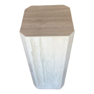 Gray Travertine Marble Pedestal