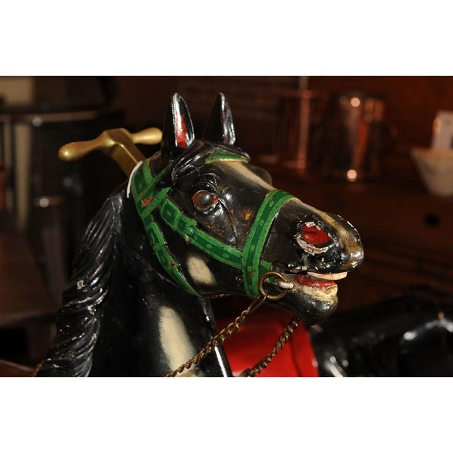 Carnival French Antique Carved & Painted Carousel Horse For Sale - Image 3 of 8