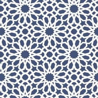 Sample - Schumacher X Martyn Lawrence Bullard Agadir Screen Wallpaper in Lapis For Sale