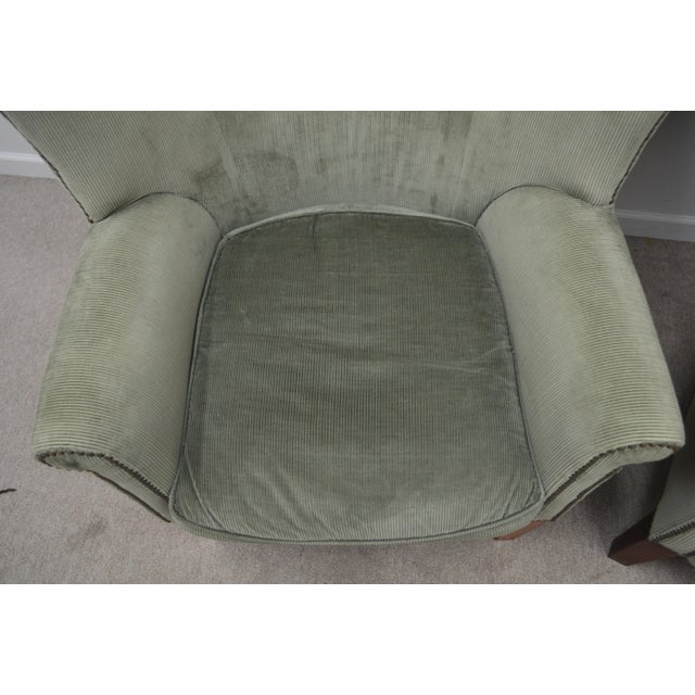 Pair Ralph Lauren Upholstered Arm Chairs For Sale In Philadelphia - Image 6 of 11