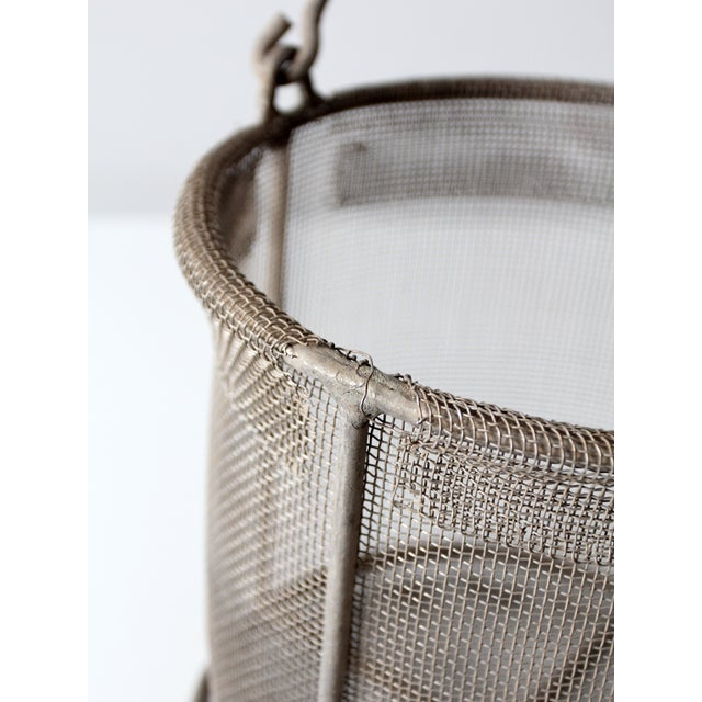 Vintage Wire Mesh Bucket With Handle - Image 7 of 8