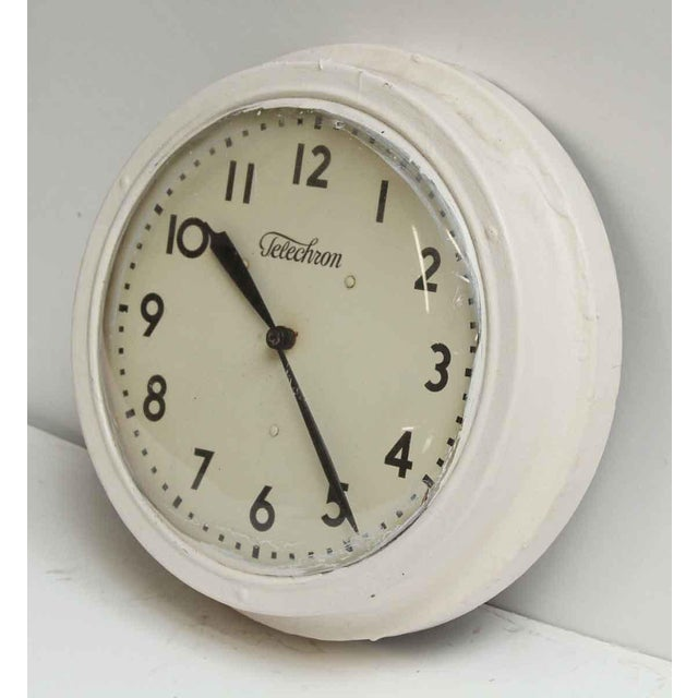 Mid-Century Modern Vintage Painted Telechron Clock For Sale - Image 3 of 8