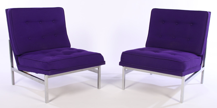 Florence Knoll Vintage Parallel Chairs   A Pair   Image 2 Of 5