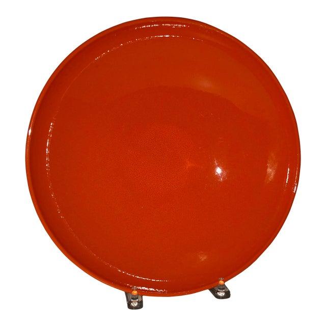 Vintage West German Pottery Orange Bowl For Sale