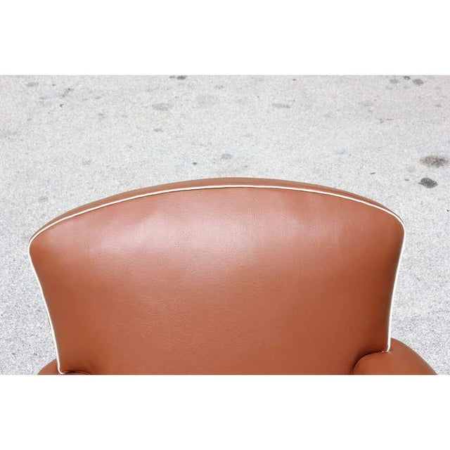 1950s Vintage French Art Deco Club Chairs - a Pair For Sale - Image 9 of 12