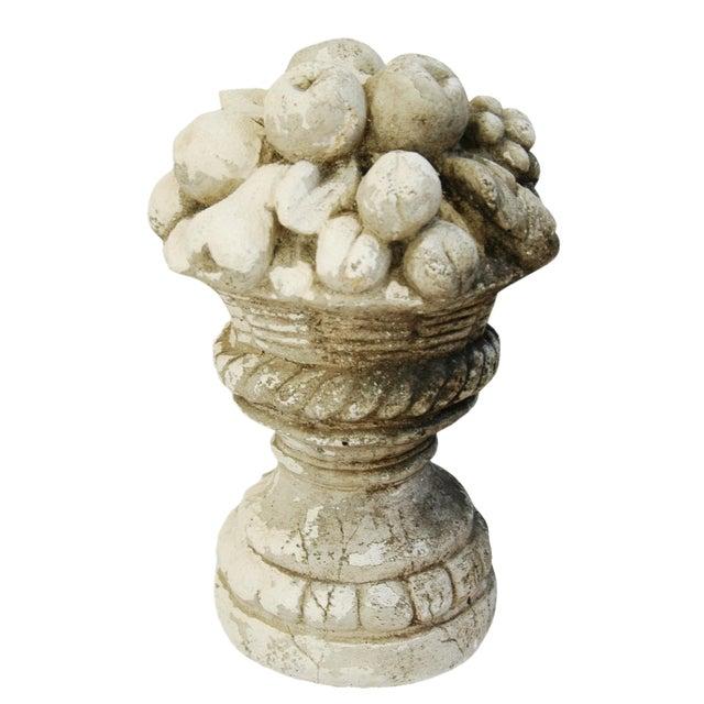 Mid-Century Plaster Vase Sculpture with Fruit Centerpiece - Image 1 of 11