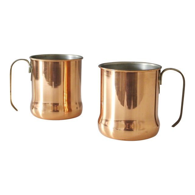 Set of 2 Vintage Copper Moscow Mule Mugs Cups Coppercraft ...