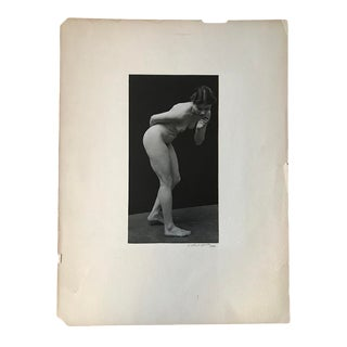 1930s Figurative Female Nude Photograph by Victor Chalupski For Sale