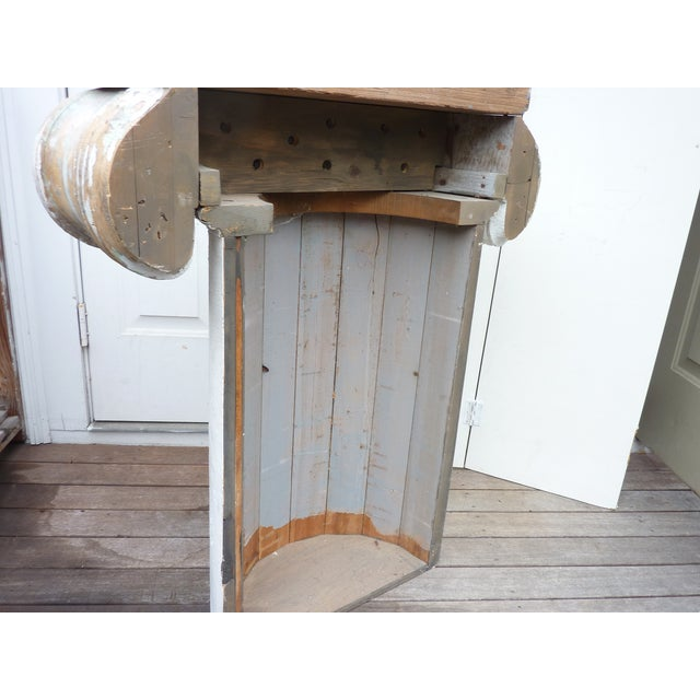 Column Pedestal Consoles - A Pair For Sale In Boston - Image 6 of 6