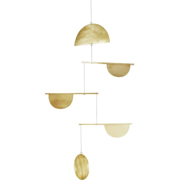 Brass Three-Tiered Geometric Mobile - Image 1 of 3